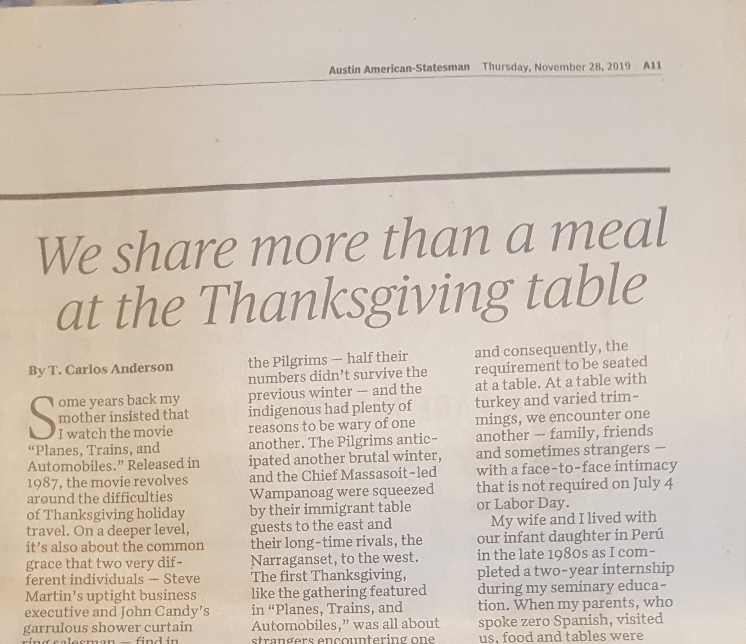 Sharing More Than A Meal At The Thanksgiving Table The T